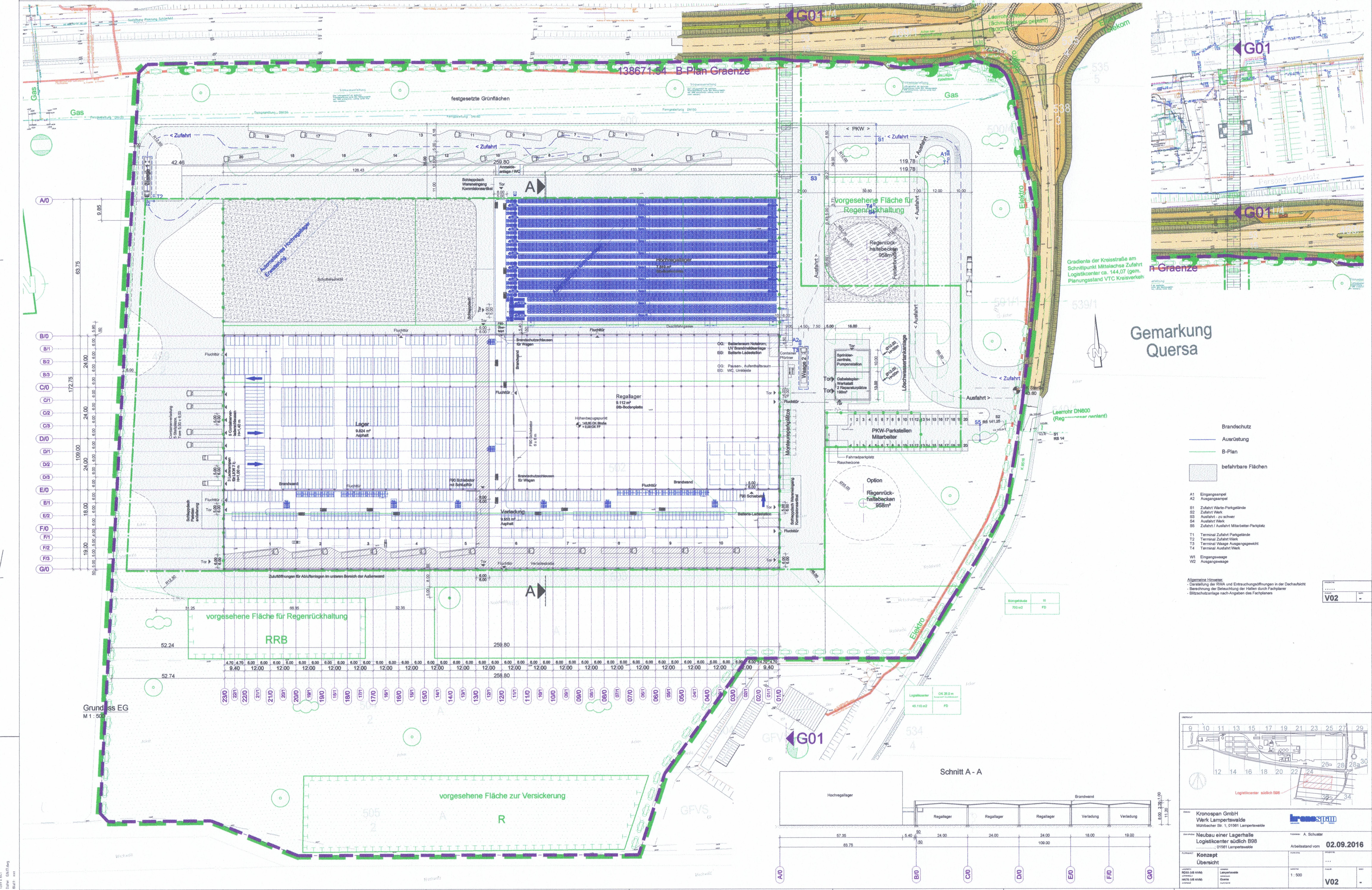 Neubau Lagerhalle mit Hochregallager
